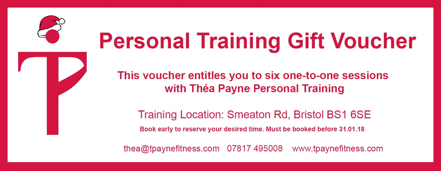 Personal Training Bristol Gift Voucher Offer Tha Payne Personal